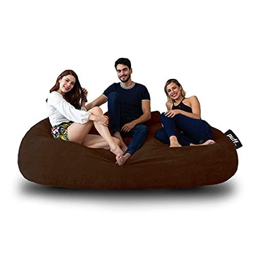 Sofá con cama Tamaño King size hasta para tres personas, ideal para adolescentes y adultos con relleno de hule espuma muy cómodo para pasar grandes momentos de descanso, acabado en velvet suave, resistente sillón perfecto interiores. (Cocoa)