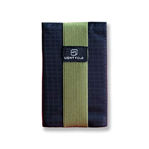 Ultra Slim Men's Nylon Trifold Wallet RFID Blocking - Hold up to 12 Credit Cards (Army Green)