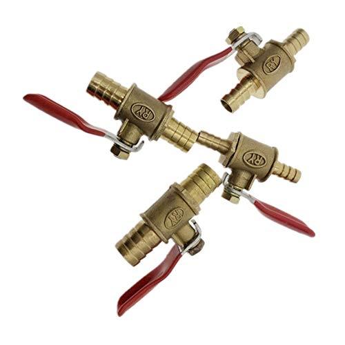 Manija roja de la válvula de 6 mm a 12 mm for manguera recta a través de latón accesorios de tubería, válvulas de globo, conectores, adaptadores, conveniente for todo el Equipo de comprimir, agua y ai