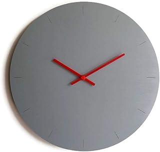 Diametro 42 cm grande orologio da parete tondo silenzioso colorato come grigio sasso Particolari orologi a muro analogici ...