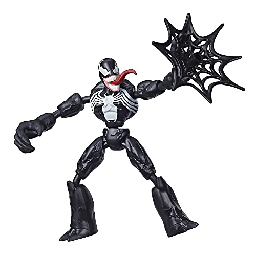 Spider-Man- Bend And Flex Figura Venom 15 cm (Hasbro E76895X0) , color/modelo surtido
