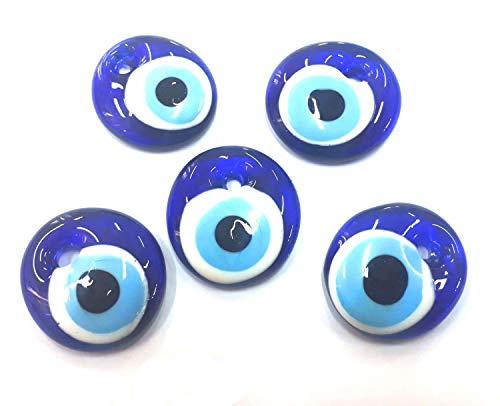 5 Stück Nazar Boncuk Boncugu 2,5/3/4/5 cm Blaues Auge, Evil Eye, Türkischer Glücksbringer, Gastgeschenke Glas Perlen Dekoration Amulett Anhänger Wanddeko Babyparty Sünnet bebek sekeri (5, 3cm)