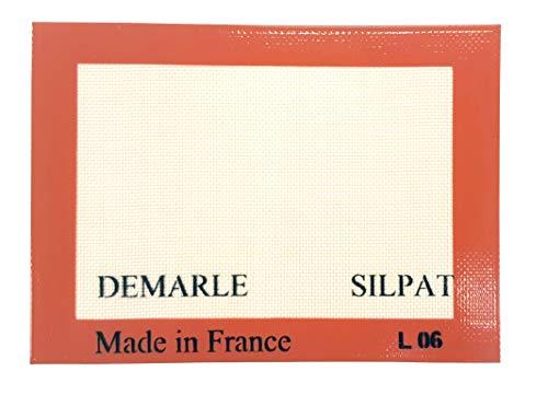 Silpat Premium Non-Stick Silicone Baking Mat, Toaster Oven Size, 7-7/8 x 10-7/8, Orange