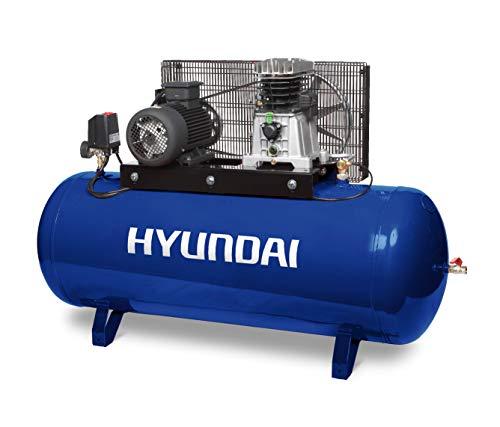 Hyundai HY-HYACB300-6T Compresor 300 L - 6 HP (Trifásico), 270 litros, Azul/Negro