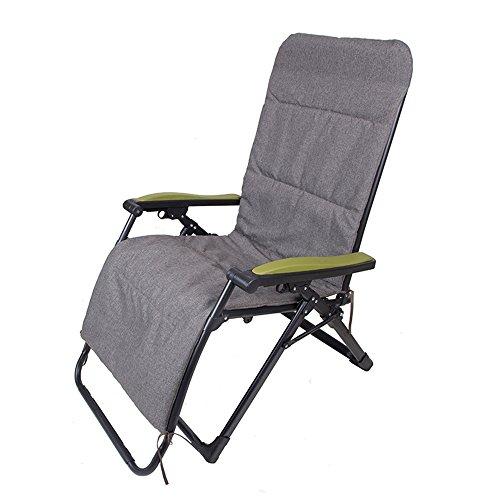 Xiaolin Bureau de Chaise de Salon Pliant pour Augmenter la Chaise de Sieste élargie (Couleur : Dark Gray Cotton Pad)