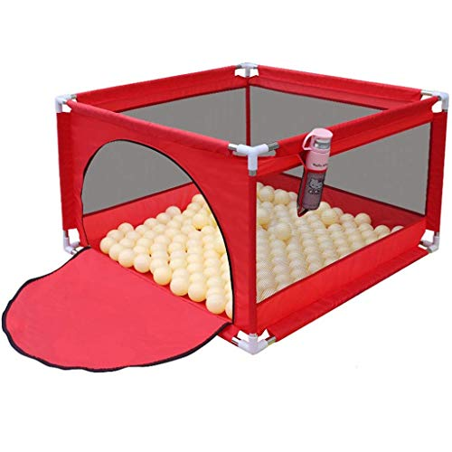 XHCP Adorable Safety Play Center Yard Baby Playpen Child Fence Baby Game Pit with Zipper is Very Suitable for Children's Pet Indoor Outdoor Games (excluding The Ball)