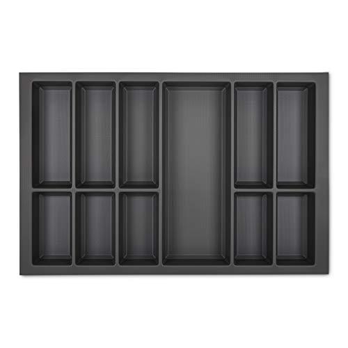 ORGA-BOX VII Design Besteckeinsatz basaltgrau 726 x 474 mm Besteckaufbewahrung Veriset KH Schröder Küchen uvm. mit 80er Korpus