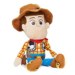 Colourful, baby soft sheriff woody pride toy from the blockbuster toy story movie series An adventure-seeking pal for little ones to enjoy plenty of cuddles and imaginative play quests with Woody soft toy comes complete with attached material holster...