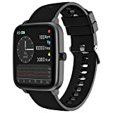 Fitness Activity Tracker Smart Watches - Fitness Tracker Smartwatch With Touch Waterproof Heart Rate Monitor   Step Counter   Sleep Monitor Sports Digital Watch for Men Women Kids Teen (Black)