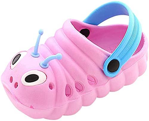 TMEOG Baby Sandals, Boys Girls Sandals Clogs Cute Caterpillar Slip On Lightweight Kid's Beach Slipper (Pink, 18_Months)