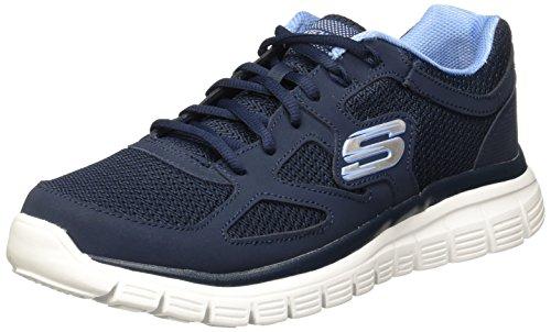 Skechers Burns 52635-bbk Herren-Sneakers, tiefsitzend, Blau - blau - Größe: 46 EU