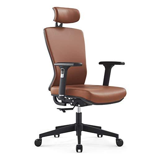 Inicio Silla de oficina Amortiguador de asiento de avanzar y retroceder silla de la computadora de cuero Silla de oficina ajustable en altura de elevación silla de trabajo reposabrazos Silla de oficin