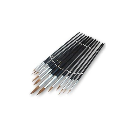 DEBS 12 X Artist Paint Brushes Painting Model Making Airfix Revell Plane Ship Tank Kit Craft
