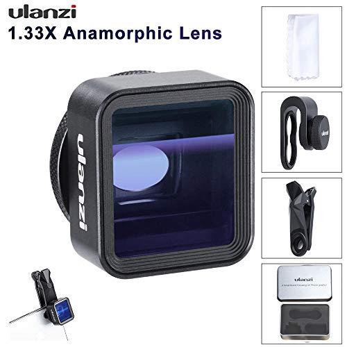 MeterMall Useful Ulanzi 17mm Universal 1.33X Anamorphic Phone Lens for iPhone Xs Max X Huawei P20 Pro Mate Movie Shooting Film Making Phone Lens