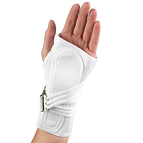 OTC Wrist Splint, Cock-Up Lacing, Canvas, ProChoice, White, 2X-Small (Left Hand)