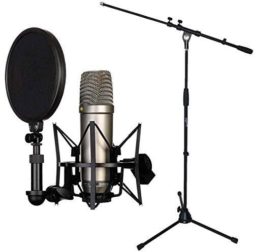 Rode NT1-A, set con microfono, incluso microfono a condensatore e asta per il microfono Keepdrum