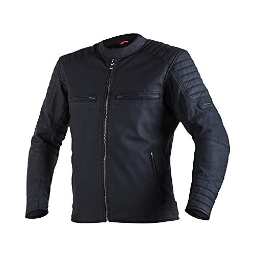 REBELHORN Hunter Pro Leder Motorradjacke für den gelegentlichen Gebrauch CE-Level 2 Ellbogen- und Schulterschutz 2 Lüftungskanäle 4 Taschen