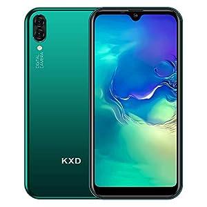 """immagine di KXD A1 libero Smartphone Sbloccato 3G,5.71"""" Waterdrop Schermo,Triplo Slots (2 Nano SIM+1 MicroSD), 1GB RAM 16GB ROM Telefonia Mobile, 128GB Espandibili Cellulari,Fotocamera posteriore da 5 MP-Verde"""