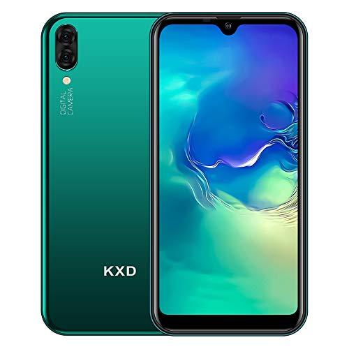 "Mobiltelefon KXD A1, freigeschaltetes Dual-SIM-Smartphone, 5,71\""-Wassertropfen im Vollbildmodus, 16G-ROM, 128G-Erweiterung, 5MP-Dual-Rückfahrkameras,Android Telefon mit DREI Kartensteckplätzen-Grün"
