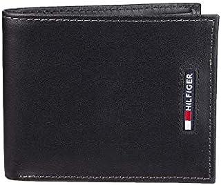 Tommy Hilfiger Men's RFID Blocking Leather Slimfold Wallet, black One Size