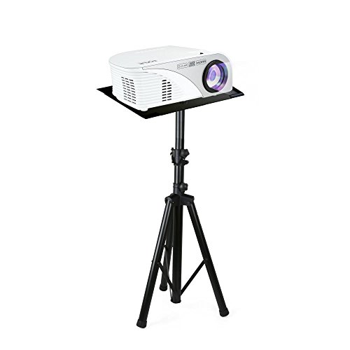 Pyle Audio Mobile DJ PA Speaker Stands, Laptop Stand, Multifunction Stand, Adjustable Tripod Laptop Projector Stand, 30' to 55', Good For Stage or Studio (PLPTS7), Black