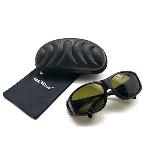 MCWlaser Gafas Protectoras de Seguridad con láser IPL Gafas (190-2000 NM) para el rejuvenecimiento de la Piel de pecas Blanqueamiento Depilación Tipo de absorción EP-4 Gafas para miopía EP-20