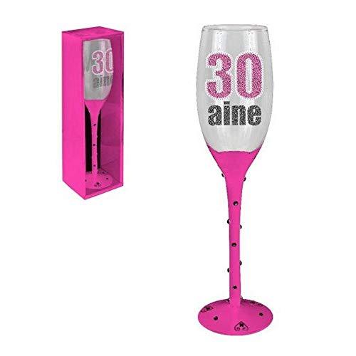 La main o panier - Flûte à champagne 30aine pied rose