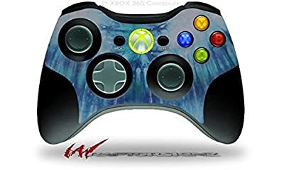 XBOX 360 Wireless Controller Decal Style Skin - Tie Dye All Blue Stripes (CONTROLLER SOLD SEPARATELY) by Matrix Productions, Inc.