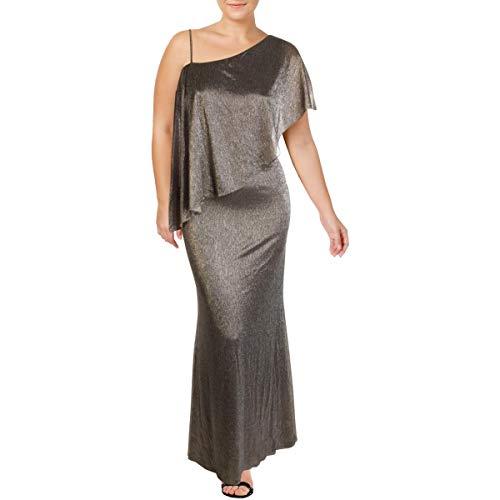 Lauren Ralph Lauren Radlee Damen-Kleid, Metallic, eine Schulter -  Silber -  40