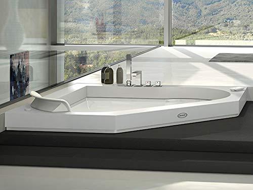 Jacuzzi Aura Corner 140 Corian bañera de hidromasaje empotrada 9443737