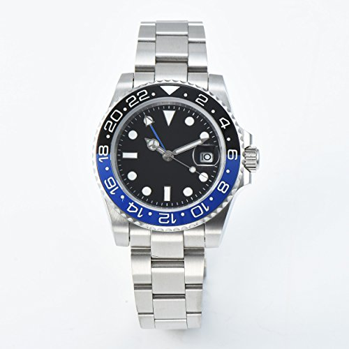 CHASO Uhr Automatic GMT Herrenuhrwerk 40Mm Aseptic Sapphire Glass Luminous Hand Edelstahlgehäuse Armband R7