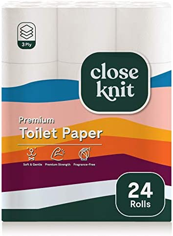 CloseKnit Toilet Paper 3 Ply 24 Premium Rolls Extra Strength and Absorbent 237 Sheets Bath Tissue product image