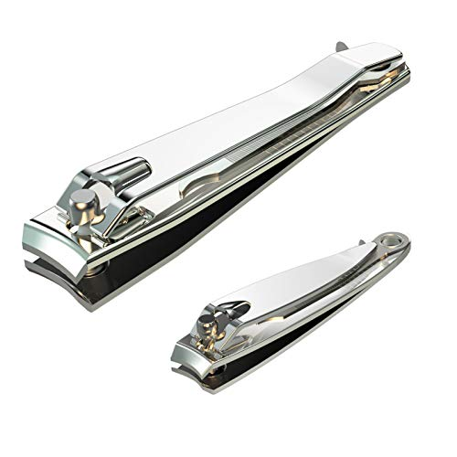Nail Clipper SetPremium Stainless Steel Fingernail and Toenail Clipper Cutters Fingernail Clipper Cutters Sets with Nail File SharpEffortless Stainless Steel Nail Clippers for Men amp Women