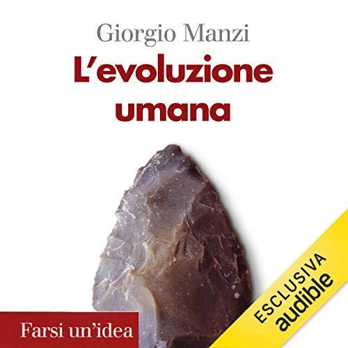 L'evoluzione umana audiobook cover art