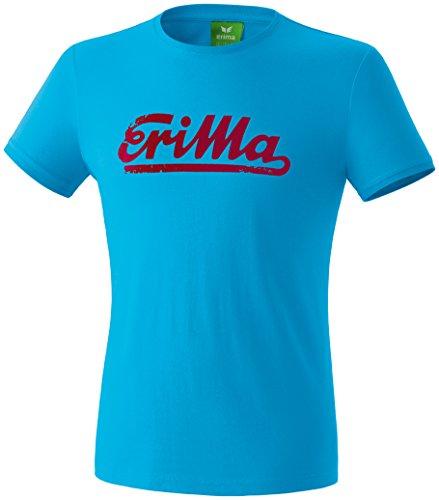 Erima Herren Retro T-Shirt, Curacao/Ruby, M