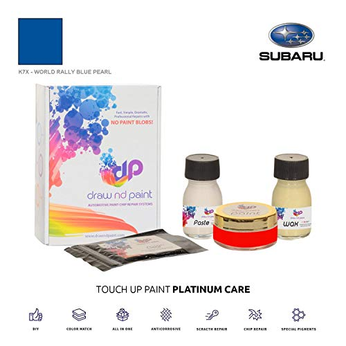 DrawndPaint for/Subaru Impreza WRX STI/World Rally Blue Pearl - K7X / Touch-UP Sistema DE Pintura Coincidencia EXACTA/Platinum Care