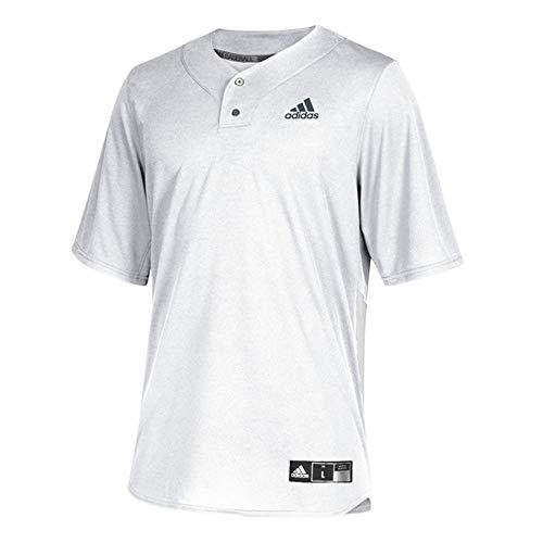 adidas Diamond King Elite 2-Button Jersey - Men's Baseball S White/Onix