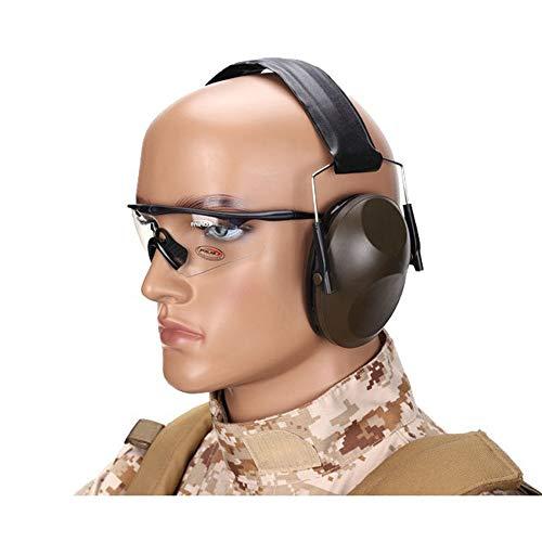 IProteccion Auditiva Auriculares tácticos con cancelación de ruido de disparo Los aficionados del Ejército de insonorización de Entrenamiento de Campo orejeras CS con cancelación de ruido al aire libre