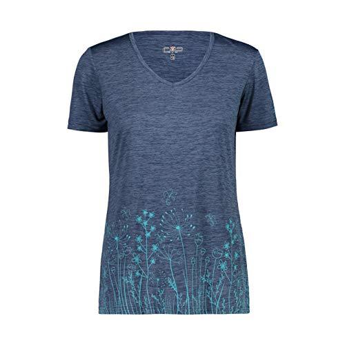CMP 39t6136 T-Shirt pour Femme M Blue Mel,