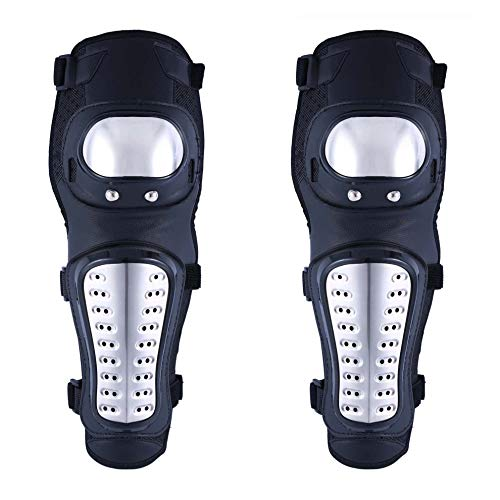 OHMOTOR Knee Guards,Knee/Shin Guard Knee Pads Crashproof Antislip Protective Shin Pads for Motorcycle Mountain Biking ATV Motocross (Knee pads-Metal)