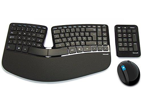 Microsoft Sculpt Ergonomic Desktop Keyboard, Mouse and Numeric Pad Set, UK Layout - Black
