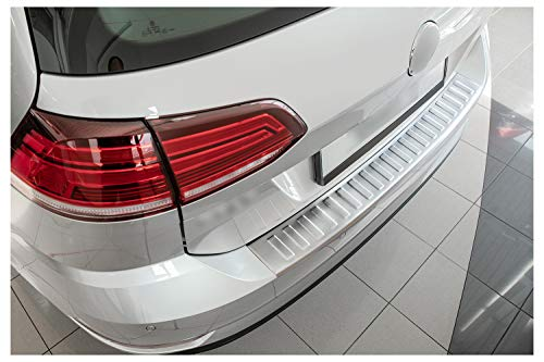 teileplus24 L636 Ladekantenschutz V2A Edelstahl für VW Golf 7 Variant 2017- Abkantung, Farbe:Silber gebürstet