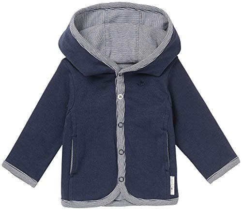 Noppies Noppies Baby - Jungen Strickjacke B Cardigan Jersey Rev Joke, Einfarbig, Gr. 74, Blau (Navy C166)