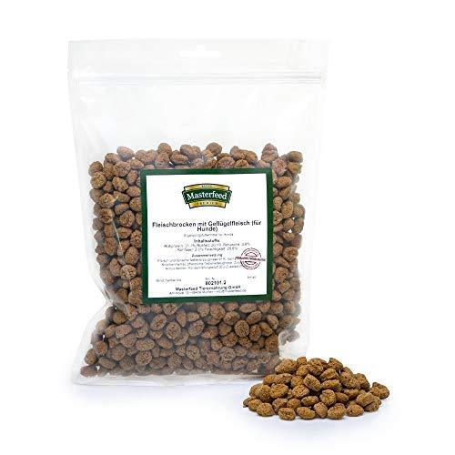 Masterfeed Leckerli Brocken Huhn - 90% Fleischanteil - Getreidefrei - 100% Natürlich - Hundeleckerli Größe 1000 g