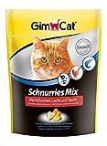 GimCat Schnurries Mix pollo, salmón y taurina – Pastillas para gatos con ingredientes funcionales que promueven la función cardíaca y la visión – 1 bolsa (1 x 140 g)