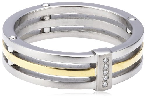 Boccia Damen-Ring Titan Bicolor 5 Brillianten 0,025 Gr.57 0126-0257