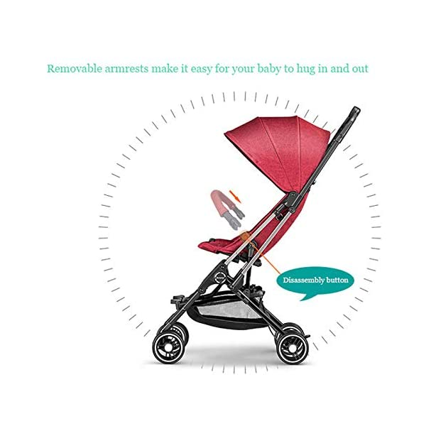 JXCC Baby Stroller Ultra Light Folding Child Shock Absorber Trolley Can Sit Half Lying 6 months-3 years old,25kg maximum -Safe And Stylish Red JXCC 1. {Four seasons are all} - Three sides of the net design, the awning can be adjusted at multiple angles, easy to cope with the sun 2. {Lightweight capsule car} - Weighs only 4.9kg, diamond car, can be on the plane, comfort zone baby 3. {3D Stereo Vibration} - X-frame design, evenly dispersing the upper weight, front wheel built-in suspension, rear wheel frame suspension 6
