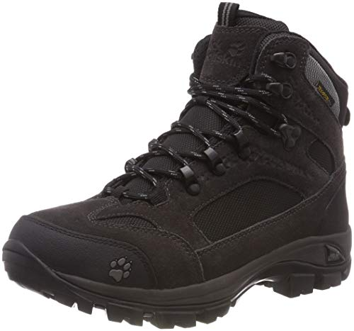 Jack Wolfskin Damen All Terrain 8 Texapore Mid W, Wanderschuhe Outdoor, Schwarz (Shadow Black 6101), 38 EU