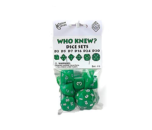 Koplow Games Green Special Who Knew 6 Dice Set