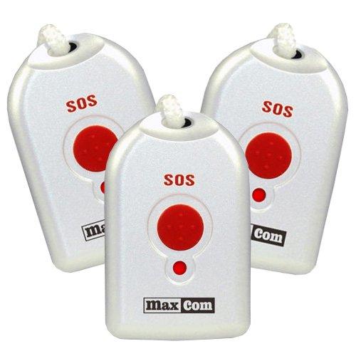 Maxcom (Zusätzlicher) Umhänge-Sender für Senioren-Notruf-Telefon KXTSOS (3 Stück)